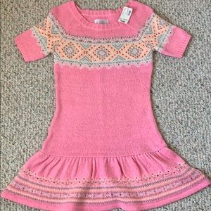 NWT Justice Girls knit sweater dress